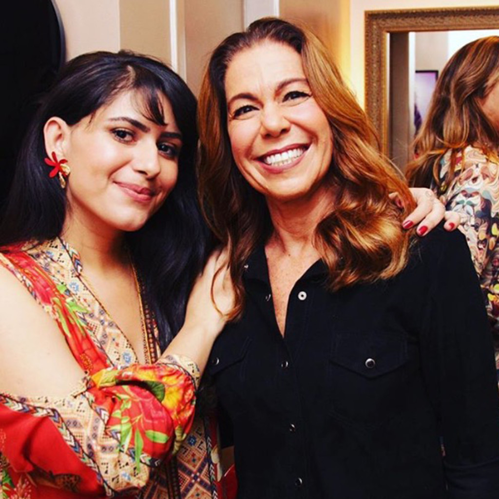 Kaká e a cliente amiga Teresa Belham linda produzida pelas suas mãos